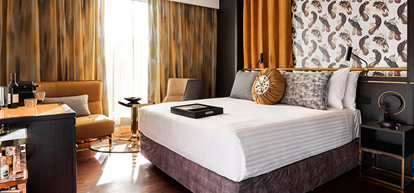 QT Deluxe King, part of the deluxe accommodation + ticket package